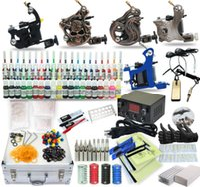 achat en gros de tattoo machine kit-Kit de tatouage complet 5 pistolet Gun alimentation TK-31 40 couleurs encres (boîtier noir)