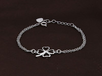Wholesale Happy Clover Silver Bracelet Korean female models Korean European and American fashion jewelry small jewelry