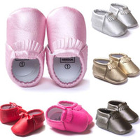 Wholesale 2016 M Baby Kids Tassel Soft Sole Leather Shoes Infant Boy Girl Toddler Moccasin