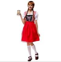 adult festival costumes - Bavarian Oktoberfest Costume Germany Beer Girl Costume Sexy Adult Women Festival Carnival Fancy Dress Halloween Costumes M L XL