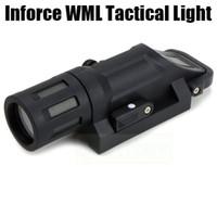Wholesale Tactical Flashlight Inforce WML LED Gun light multi functional light Fits Picatinny mm Rails Fiber Composite Black