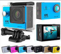 Wholesale Action cam EKEN H9 or H9R with remote Ultra K WiFi P fps quot D Helmet Cam go underwater waterproof pro camera