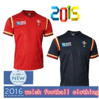 Wholesale Ship From London Wales Rugby Jersey Top Thailand Quality Wales Rugby Shirt WRU Mens Home Maillot Rugby Free Royal Mail