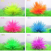 anemone aquarium - Sea Plant Aquarium Fish Tank Colors Silicone Sea Anemone Ornamen Emulational Sea Plants Anemone Coral Ornament Decoration for Fish Tank