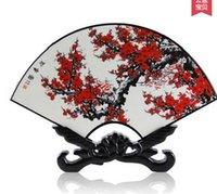 antique chinese screens - Lacquer antique ornaments small screen Fan shaped decorations Goods Chinese wind characteristics gifts Fashion crafts