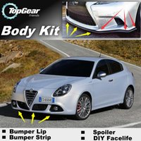 Wholesale For Alfa Romeo Giulietta AR Bumper Lip Lips Front Skirt Deflector Spoiler For Car Tuning The Stig Recommend Body Kit Strip