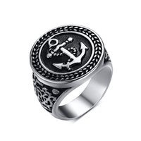 african american pictures - Brand New Men s Stainless Steel Rings with Anchor Picture at Punk Rock Style for Men s Fahsion Jewelry Biker Ring