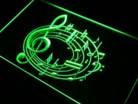 acoustic music - j578 Music Notes Bar Beer LED Neon Light Sign Cheap sign up High Quality light acoustic