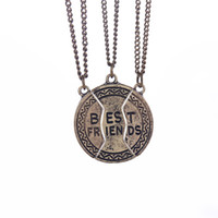 american shares - Statement Jewelry Vintage Bronze Broken Friendship Coin Parts Best Friend Necklaces Pendants Jewelry Share With Your Friends