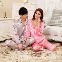 Wholesale summer Traditional spouse sleepwear honeymoon gown facile hand feeling natural silk sleepwear pajama sets Buy it send surprise
