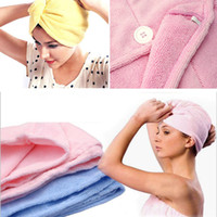 bath dry cleaning - 200pcs Bath Hair Drying Towel Portable High Quality Home Lady s Magic Hairband Quick Dry Microfiber Bath Towel ZA0623
