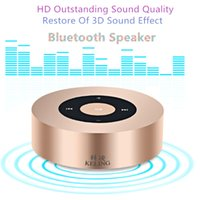 audio inserts - KELING A8 Mobile Phone Touch Screen Wireless Bluetooth Speaker Outdoor Mini Speaker INSERT CARD Hands free Calls Subwoofer Small Steel Gun