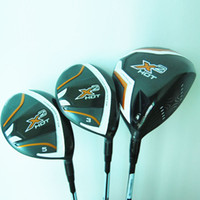 Wholesale New Mens Golf clubs X2 HOT Golf wood set Driver Fairway woods with Graphite Golf shaft headcover Wood clubs