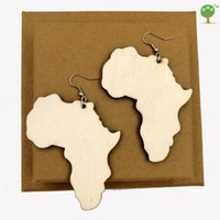 african tribal art - African map earring big punk pop art tribal jewelry urban fashion tie AFRICA ER764