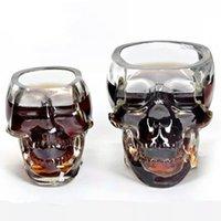 Wholesale 2016 hot ml transparent crystal skull shot glass of vodka whiskey Wine Bar Club Home Shuiju
