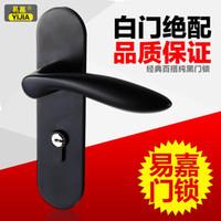 bathroom door knobs - Yi Jia classic black bathroom door wood door locks bedroom modern minimalist interior door lock