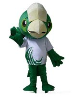 big green parrot - adult green big head parrot mascot costume for adult to wear