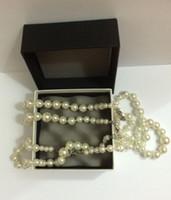 al por mayor joyas de cristal collar largo-Collar de la perla de la marca de fábrica de la manera de la alta calidad para las mujeres Collar pendiente para la joyería de la boda 3 collares largos cristalinos de C