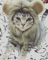Wholesale Pet Costume Lion Mane Wig for Cat Christmas Xmas Santa Halloween Clothes OEM supported custom design and logo available
