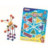 Wholesale Construction Ball and Connecting Stick Building Toy focuses on geometric shapes learning Open Ended Play Construction Toy Hot Selling