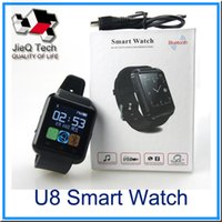 U8 Bluetooth SmartWatch U Smart Watch Montres Montres pour iPhone 4 / 4S / 5 / 5S Samsung S4 / S5 / Note 2 / Note 3