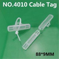 Wholesale Waterproof transparent cable tag Cable ties Wire signage Cable signage Logo box plastic sign strage box