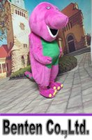 barney photos - VO123 Real Photos Barney Custom Mascot Costume Fancy Dress Adult Cartoon Costumes Carnival Party Carnival Halloween Outfits Holiday Event