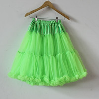 Wholesale Teen Adult Girls Pettiskirt Womens Solid Color Party TuTu Skirts Green Long Tutu Skirt
