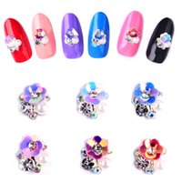 ab stickers - 2016 new Super shiny Crystal Swarovski AB Glass D Nail Art rainbow Rhinestones decorations for nails Nail Stickers
