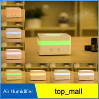Wholesale Hot selling Auto Smoke Ring Essential Oil Aromatherapy Diffuser LED light Air Humidifier Air Purifier DHL free ship