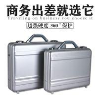 aluminum attache - Silver Attache Case Aluminum Magnesium Alloy Instrument Case With Different Size