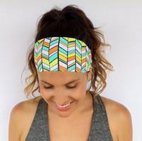 Wholesale 2016 Hot Women girls Headbands By Hippie Runner Yoga Headband Spring Running Walking Exercise Workout Fitness Headband Headwear