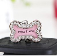 beautiful frames photos - Pets ID Tag Dogs Bones Shaped Crystal Photo Frame Beautiful for Cats Name ID Cards Supplies