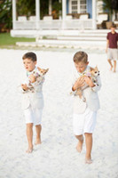 Wholesale Custom Made Summer Beach Boys Wedding With Clothes Nicely Kids Tuxedos Suits Cheap Formal Clothing Coat Short Pants