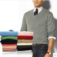 Wholesale new mens mans Men s long sleeved sweater V neck Jumper Sweaters Shirt sweater S XXXL