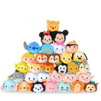 Women's anime mermaid - 50pcs Mini Tsum Tsum Plush Toy Thumper Doll Stitch Mermaid Sully Cute Elf Screen Cleaner for Juguetes Set