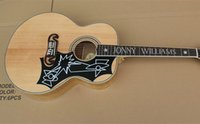 Wholesale New Burlywood Elvis Presley Solid Spruce Top J200 NA Tiger Flamed Maple Sides Back Fishman EQ Acoustic Electric Guitar
