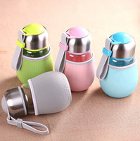 art glass suppliers - Factory supplier high quality ML Penguin shape glass cup With Tea Infuser Gift Bag Students Cup Sports Bootle Travel Bottles Mug