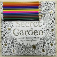 Wholesale 12 Color Pencils pages English Secret Garden Coloring Books For Adult Hand drawn Relieve Stress Graffiti Painting Libros