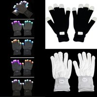 Wholesale Festive Party Supplies Event Party Supplies New Flashing Gloves Glow Mode LED Rave Light Finger Lighting Mitt Toy finger led gloves PTSP