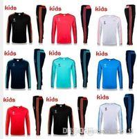Wholesale 2016 Thai version of the new children s Real Madrid Paris training suittraining suit training suit training clothes factory A