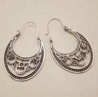 antique copper chandelier - Retro Antique Tibet Silver Vine Hollow Filigree Vintage Earrings For Women Girls NEW Arrival Jewelry
