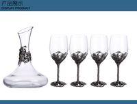 bars crystal mosaic - Home wedding bar crystal wine glass sets High Quality Clear Glass Wine Decanter Wine glass set Drinking Glass Set Giant Wine Glass Cup