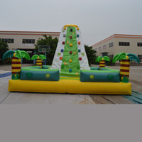 Wholesale AOQI customized inflatable sport toy rock climbing game indoor giant inflatable playgroud inflatable rock climbing mountian for kid