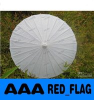Wholesale Bridal wedding paper parasols Handmade inches Plain White Color Chinese Straight Bamboo Umbrella Drop shipping Hot sale LLFA