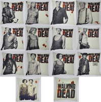 Wholesale Customs Sofa Throw Pillow Case The Walking Dead Home Decorative Cotton Linen Pillowcases X Inch