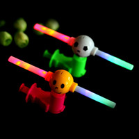 Wholesale 1Pcs Light Up LED Flashing Spinning Windmill Funny Hand Manually Controll Pinwheel Windmill With Sound Toy Random Color K5BO