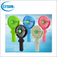 Wholesale 360 Degree Rotation Foldable Mini USB Cooling Fan Rechargeable DC V for Desk Laptop Notebook Pocket USB Fan Battery mAh