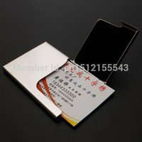 Wholesale New Semi open creatively Business Driver Credit Card Holders Stainless Steel Case
