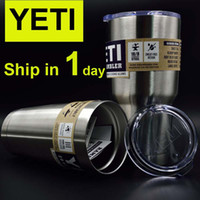 beer stainless steel - Yeti oz oz oz oz Rambler Tumbler Bilayer Insulation Cups Cars Beer Mug Large Capacity Mug Tumblerful DHL OTH242